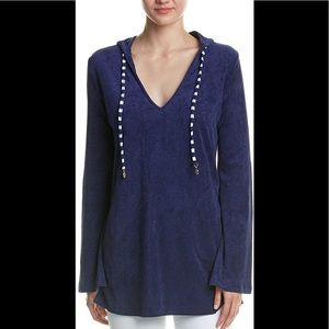 NWT Hooded Terrycloth Beach Coverup